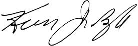 Kevin Boyle Signature